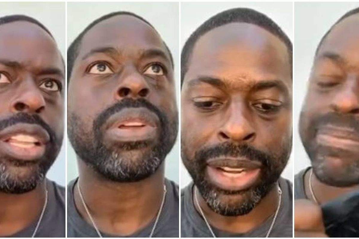 Sterling K. Brown shares what it's like to be a black man in America in moving tribute to Ahmaud Arbery