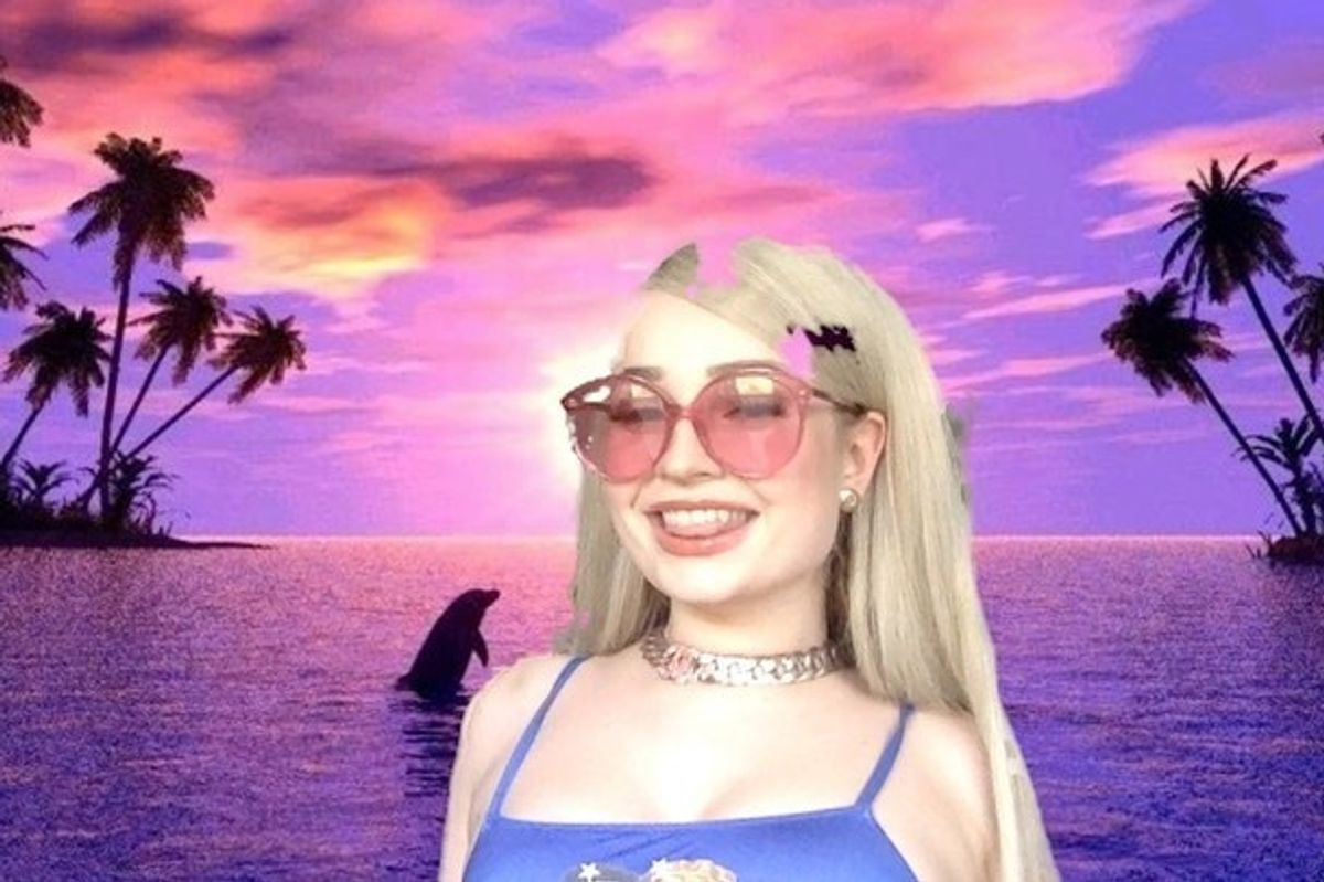 Kim Petras Called All Her Famous Friends for a Virtual Pool Party