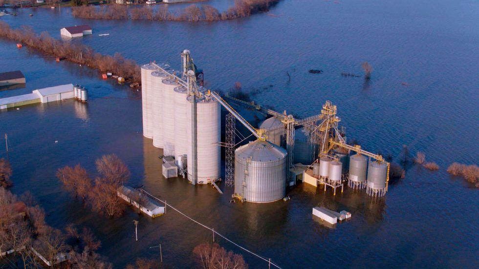 A flooded heartland farm.\u200b