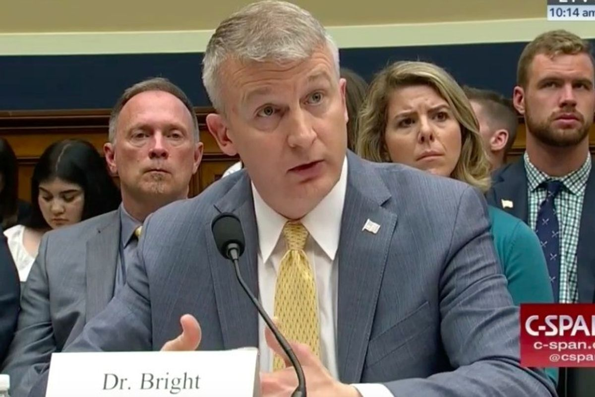 Ousted whistleblower Rick Bright demands a science-based pandemic response
