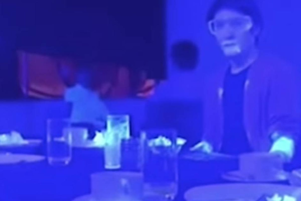 Eye-opening black light experiment shows how easily COVID-19 can spread in a restaurant