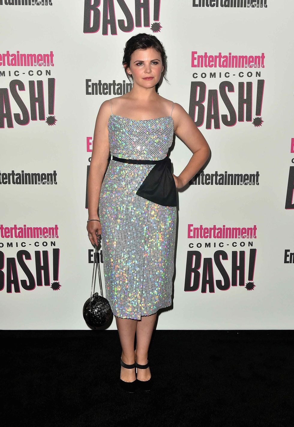 Ginnifer Goodwin in a sparkly spaghetti strap dress
