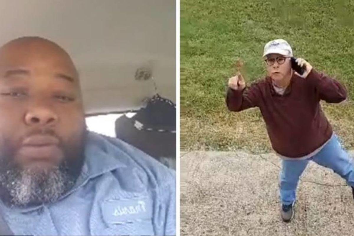 A black delivery man was held against his will inside a gated community just for doing his job