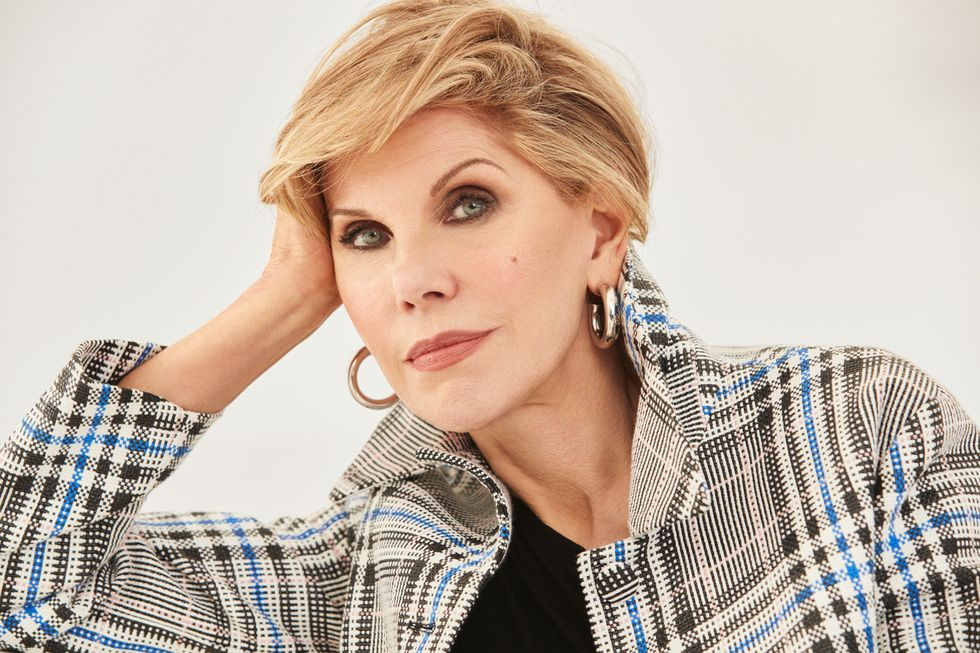 Close-up portrait of Christine Baranski.
