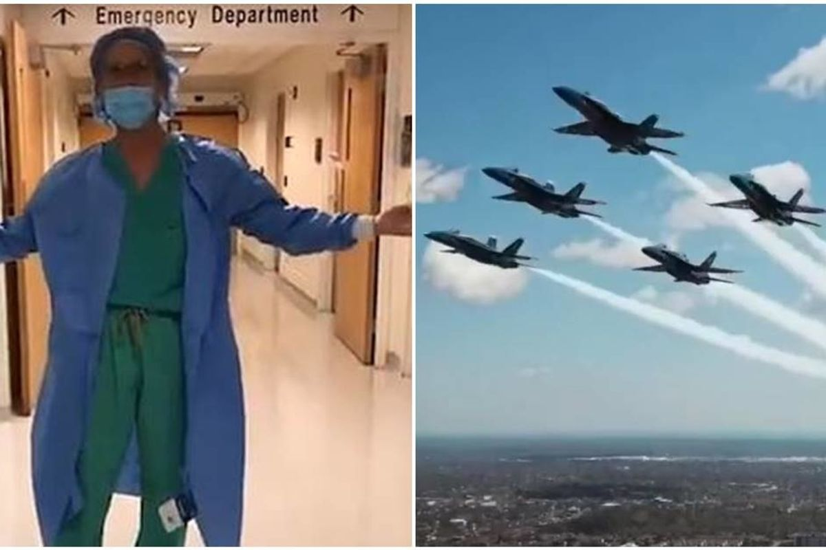 A doctor learned they are flying Blue Angels over hospitals instead of buying protective equipment