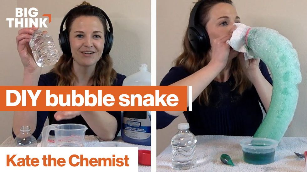 Chemistry for kids: Make a DIY bubble snake!