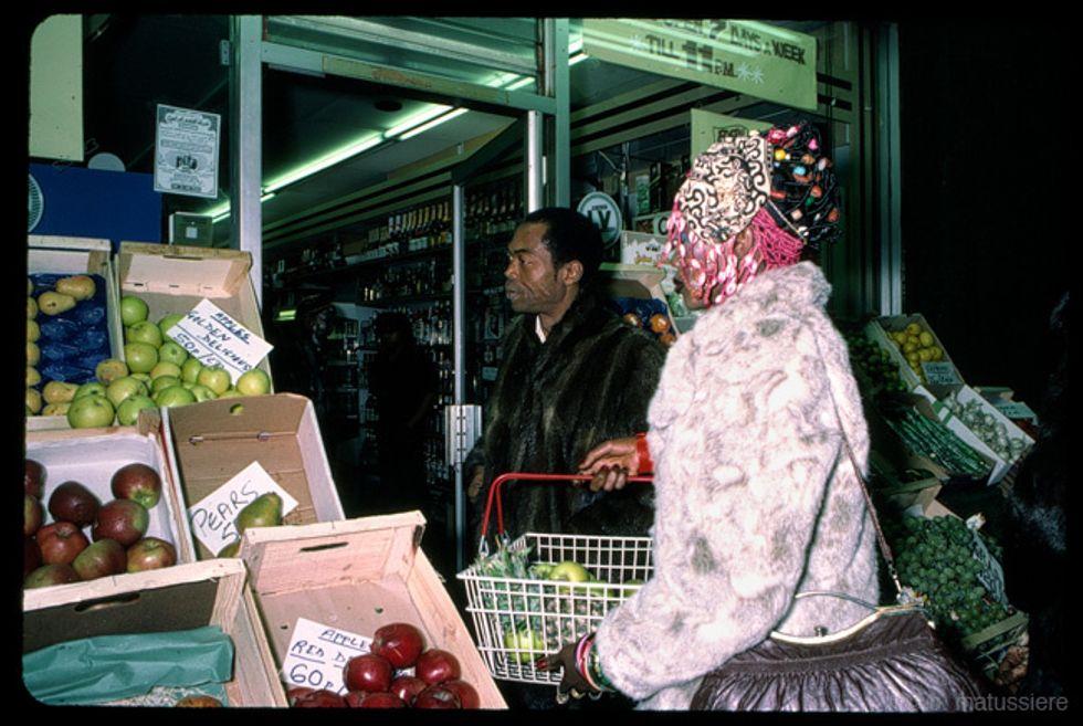Fela Kuti at a market.
