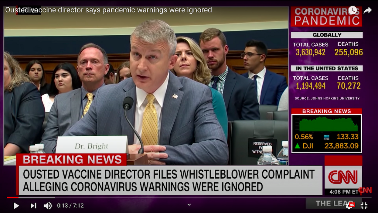 Ousted HHS Official Dr. Rick Bright Files Whistleblower Complaint
