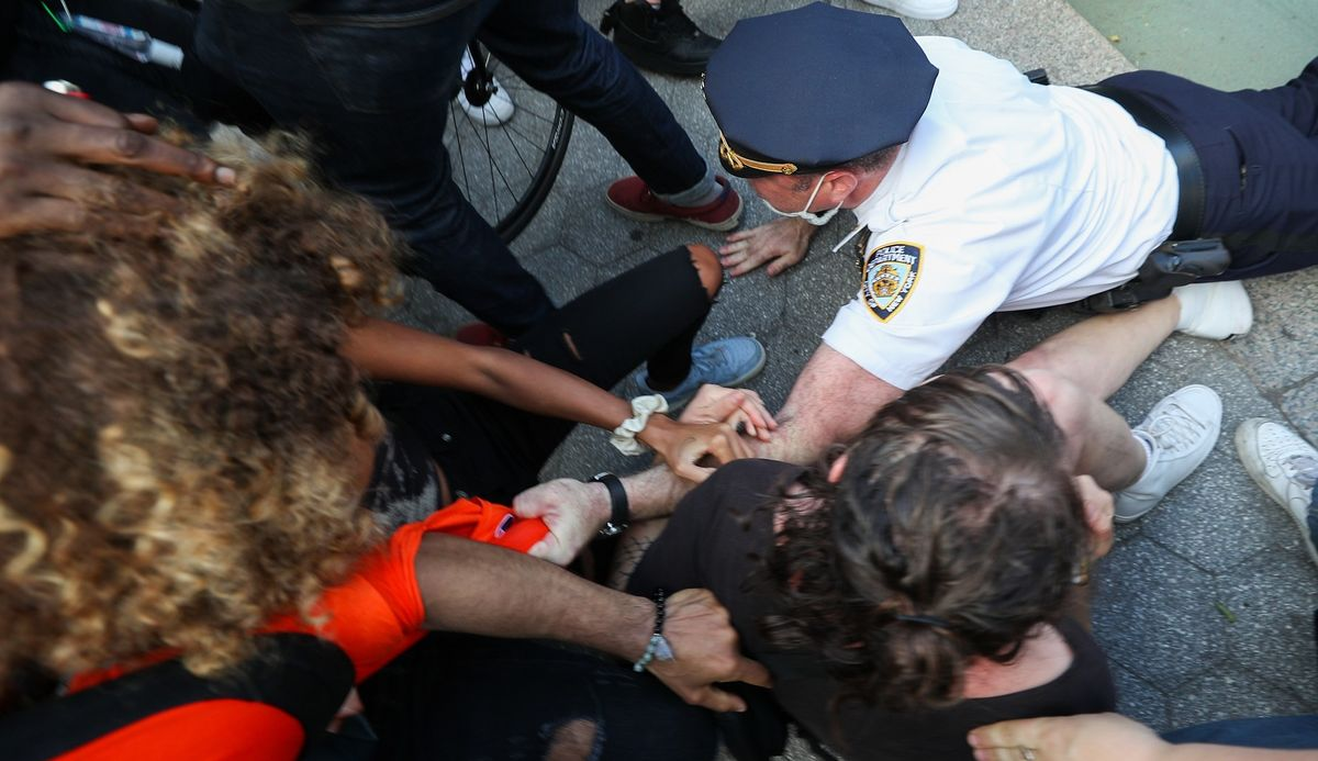 More than 70 arrested, several police officers...