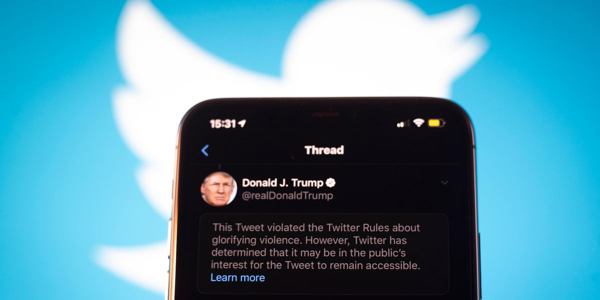 Twitter Flags Trump and the White House Threats for Violence