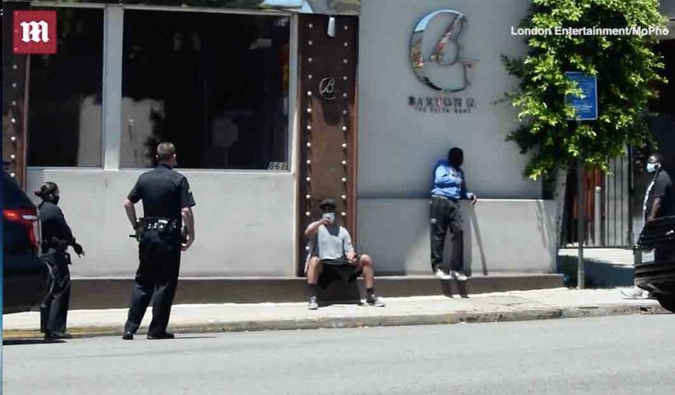 Actor Denzel Washington plays hero in real life. Check out what he does for man apparently in distress on LA street.