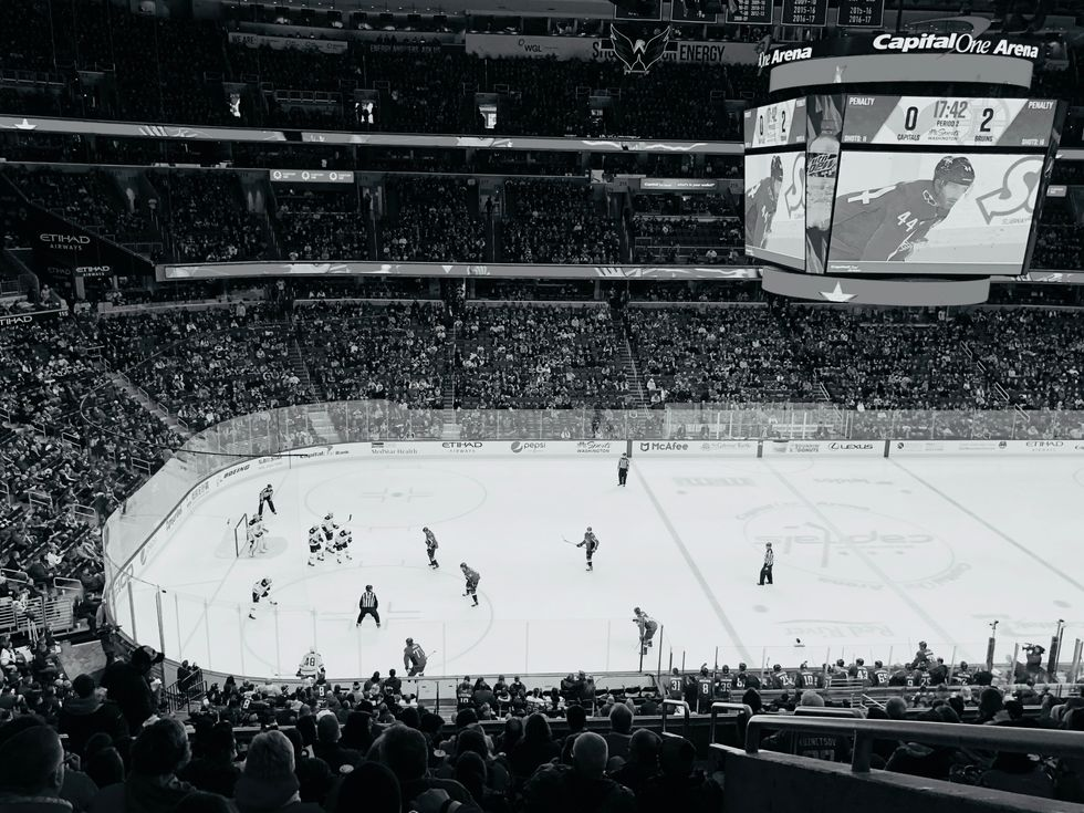 hockey arena during a hockey game