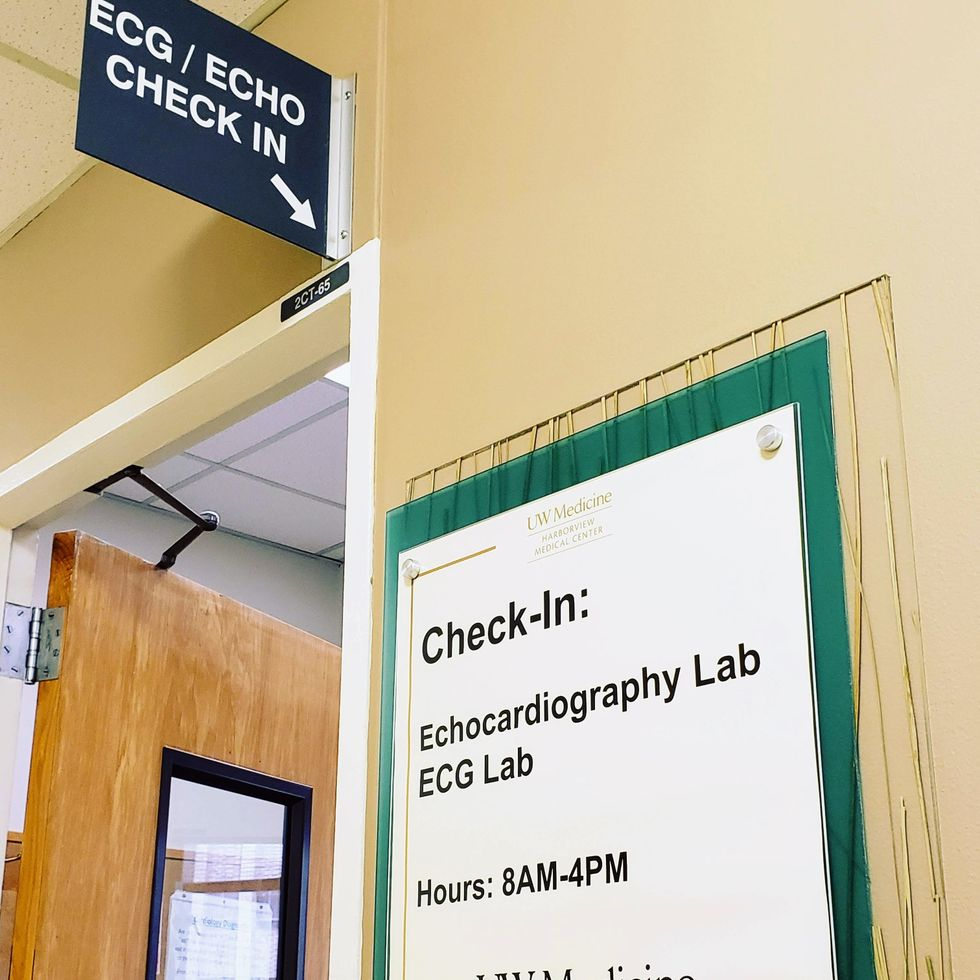 Check in: Echocardiography Lab at the University of Washington at Harborview