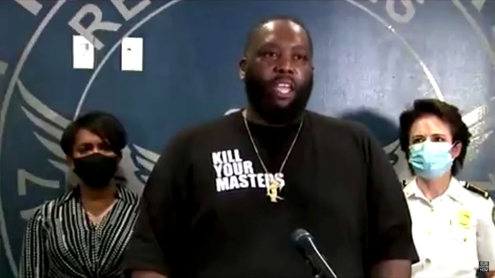 Atlanta rapper 'Killer Mike' blasts CNN in powerful speech: 'Stop feeding fear and anger'
