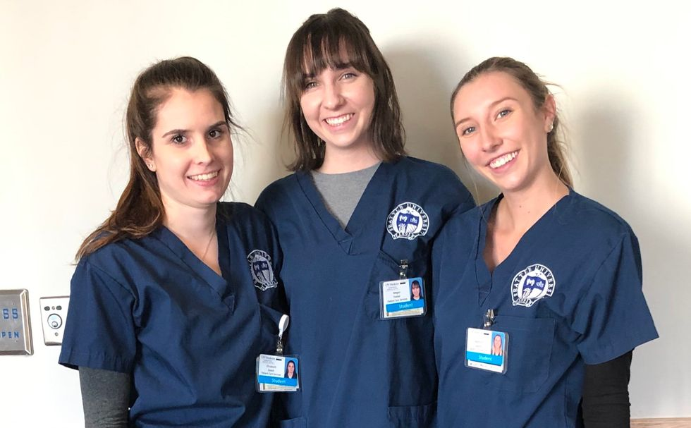 Students behind our hospitals