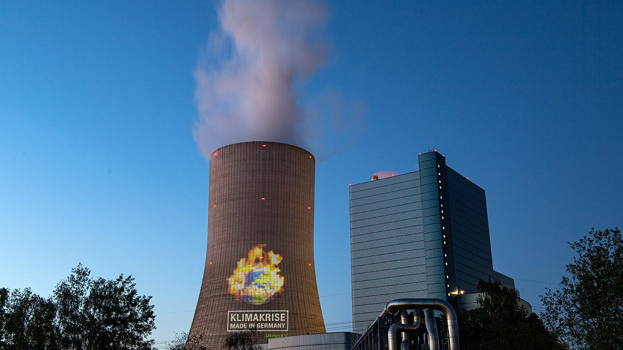 Climate Activists Protest Germany's New Datteln 4 Coal Power Plant