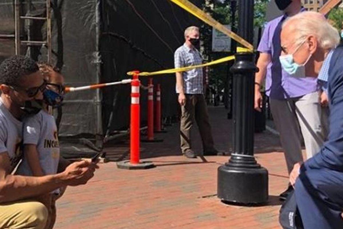 Joe Biden visited George Floyd protest site while Trump raged hidden in White House bunker