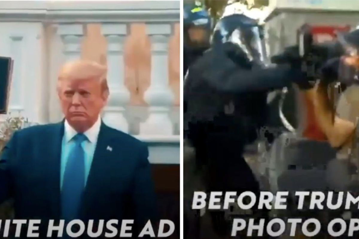 The White House made a propaganda video about the protests that might as well be from another planet