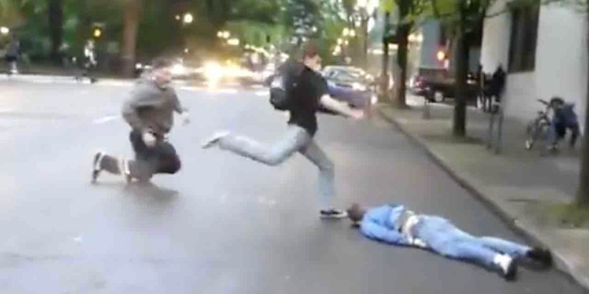 That thug who kicked man in head after he was already knocked out during protest? Police made an arrest — and suspect is only 14.