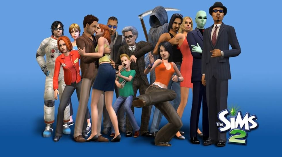 The SIms 2 promotional photo