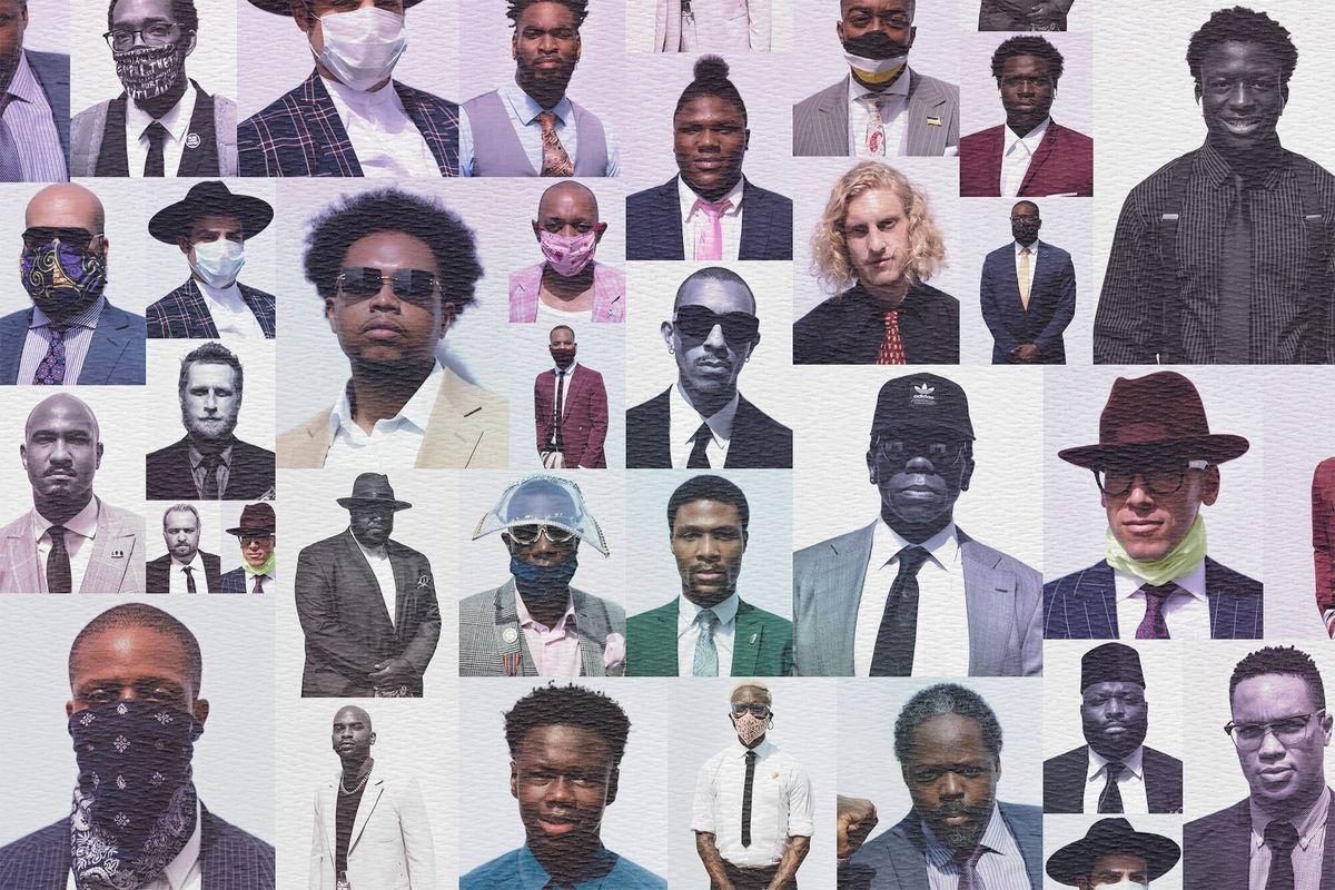 Portraits of Black Men Who Marched for George Floyd in Harlem