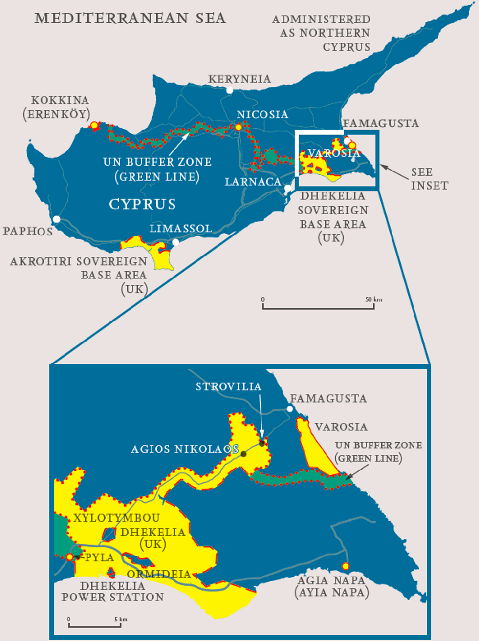 Ideally, u200bCyprus shouldn't have any internal borders at all.
