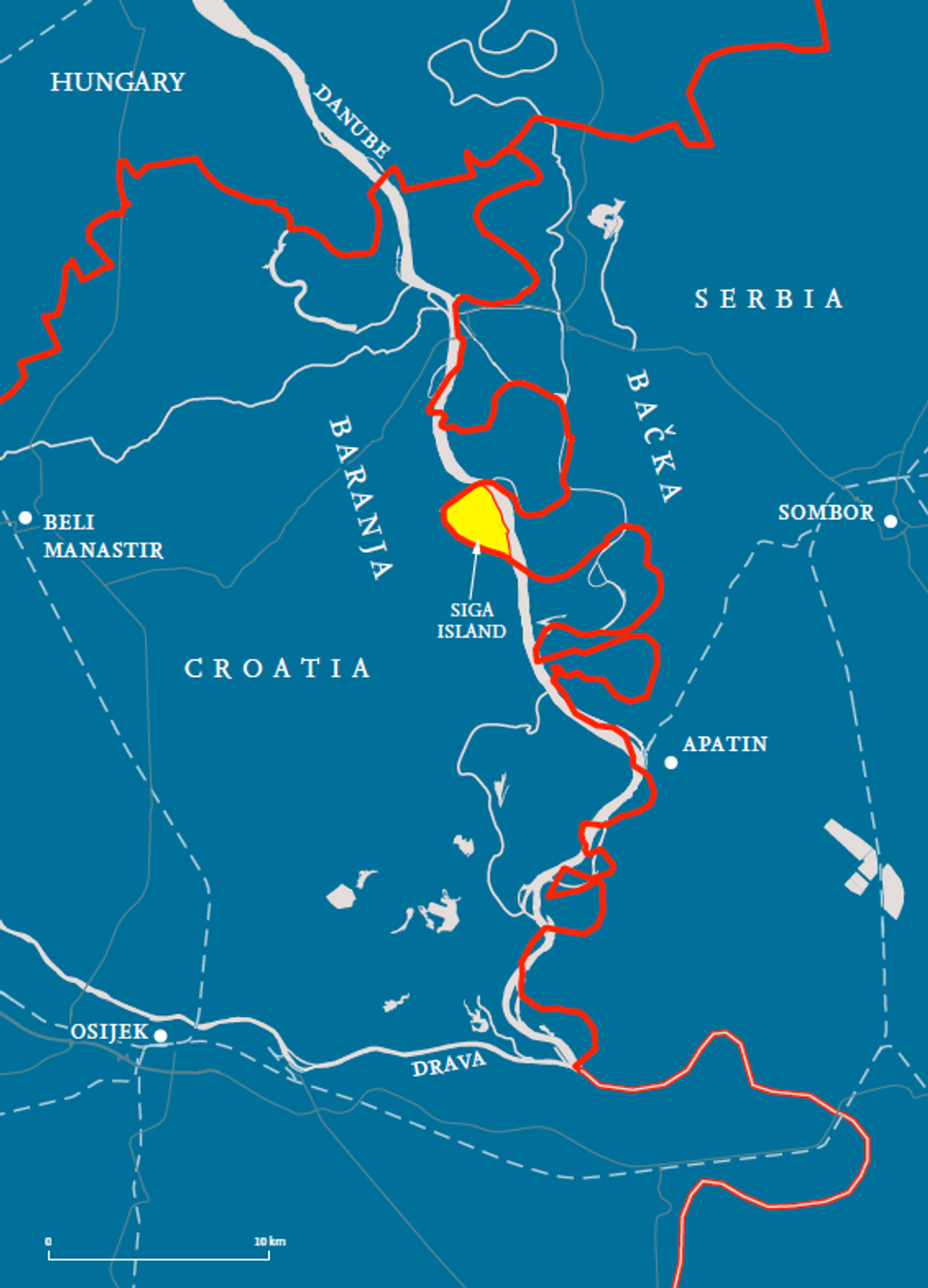 In a region fought over so bitterly, Siga Island presents a remarkable exception: it is claimed by neither Croatia nor Serbia.