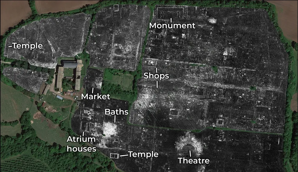 A buried ancient Roman city uncovered using radar technology