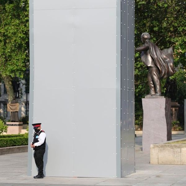 If Only Cops Protected Us Like They Do These Statues