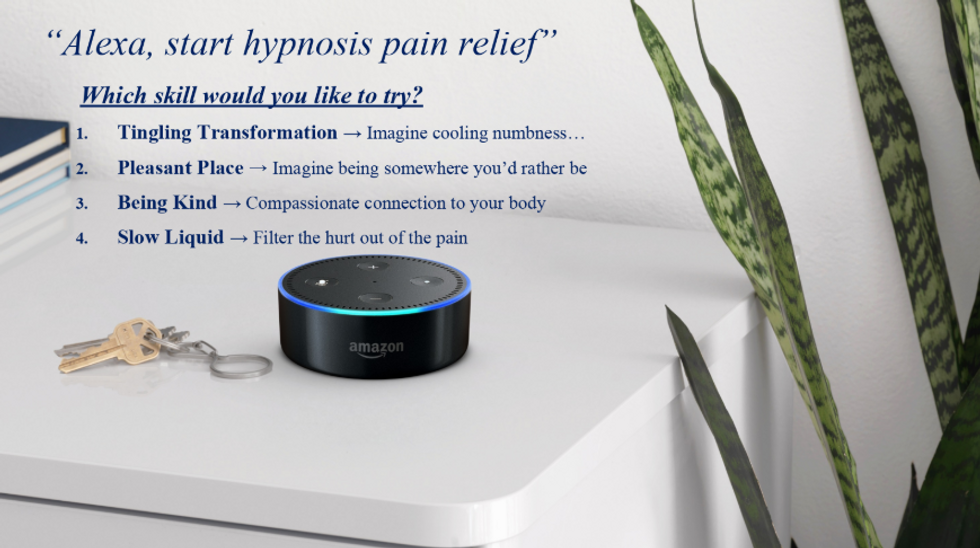 Free self-hypnosis therapy in your home? Just ask Alexa