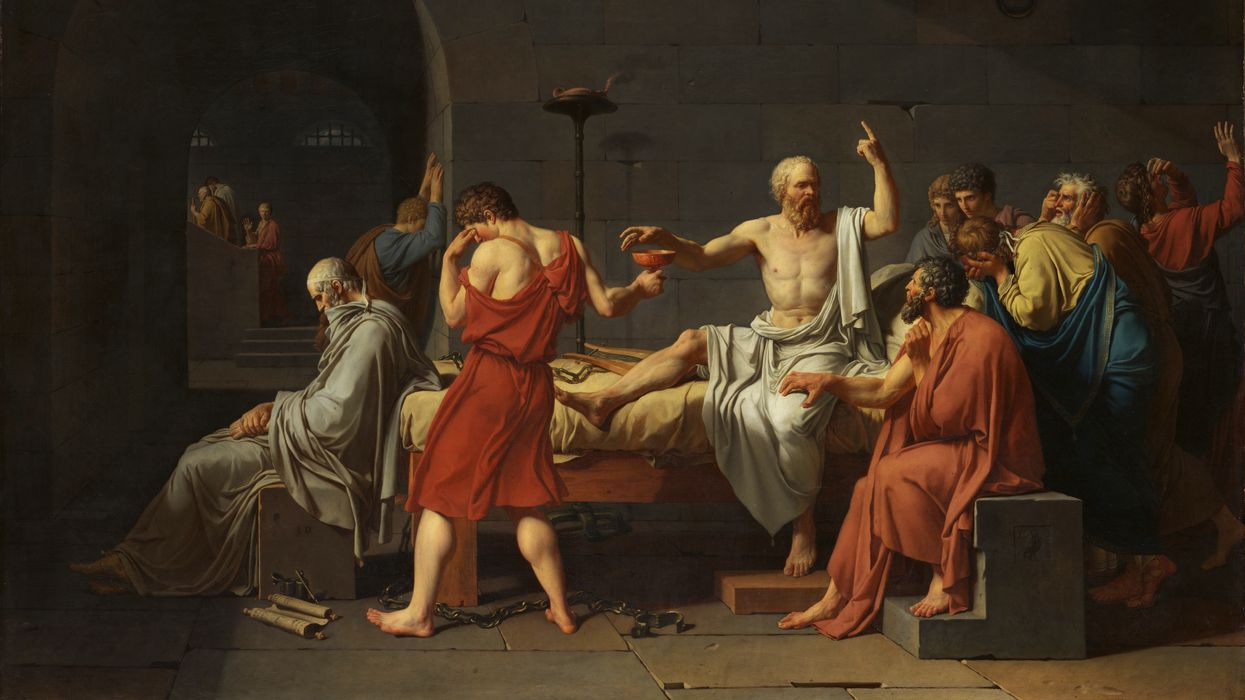 """The Death of Socrates"" painting"