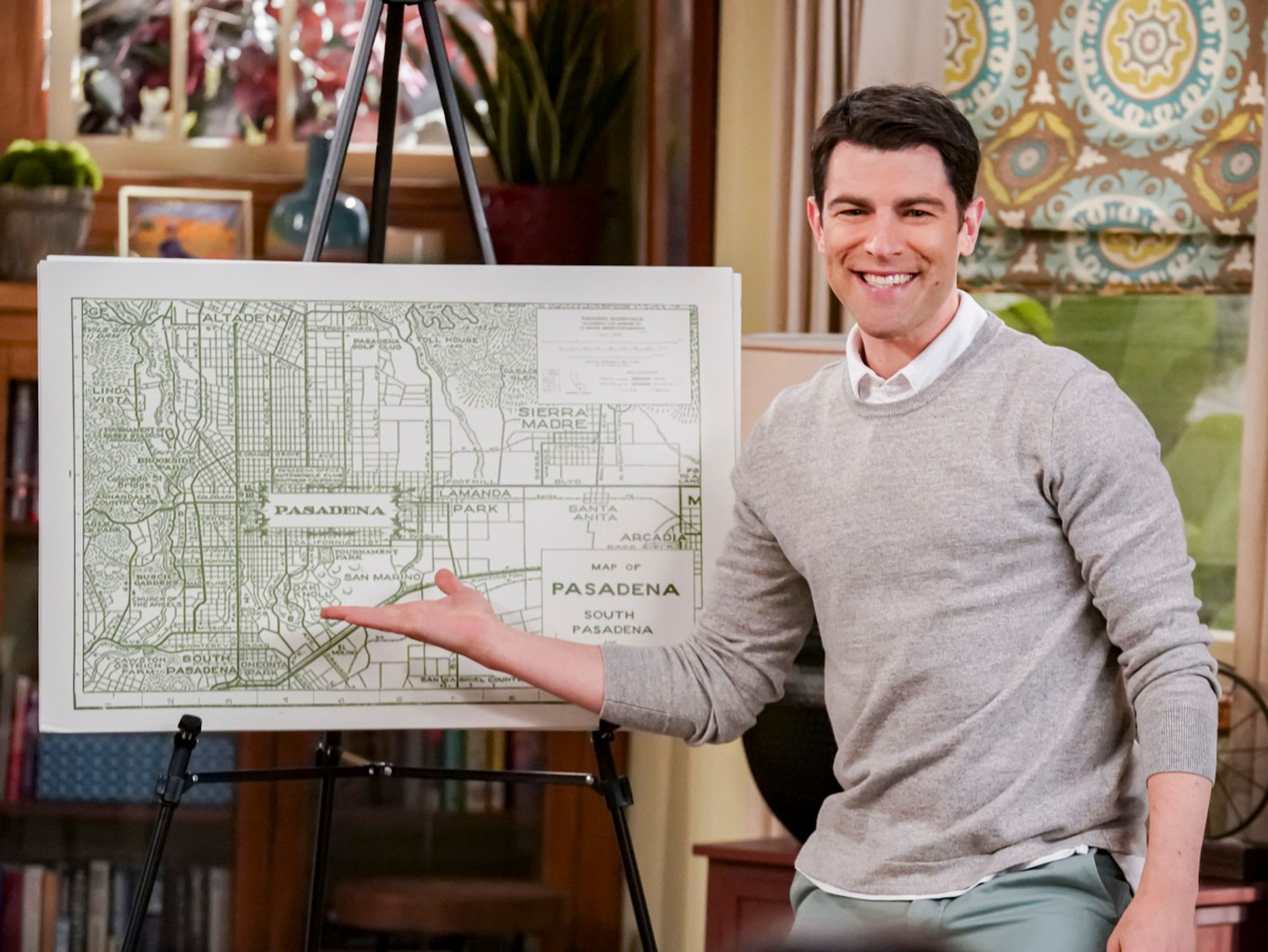 Max Greenfield in the TV show The Neighborhood.