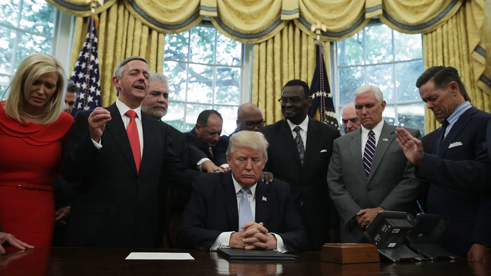 Half of evangelicals believe Trump is anointed by God