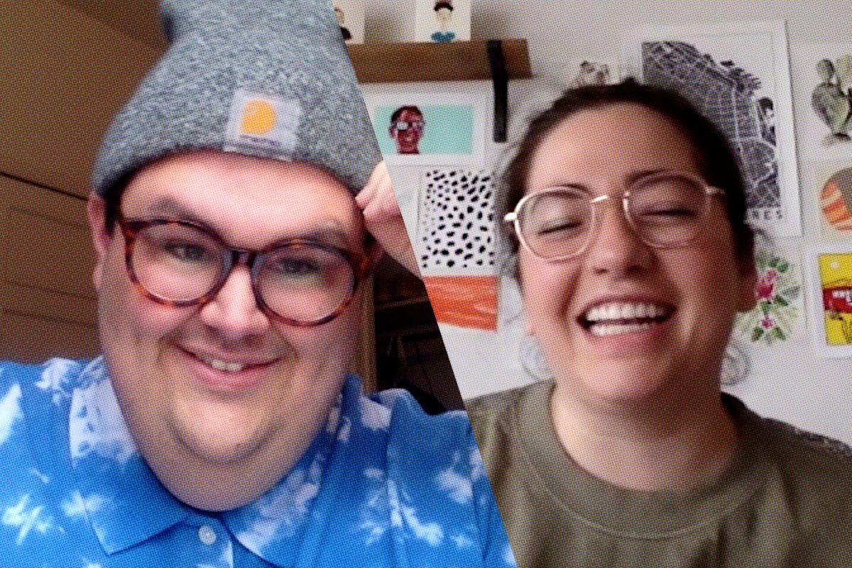 Less Than a Minute on Zoom: Caleb Hearon and Shelby Wolstein