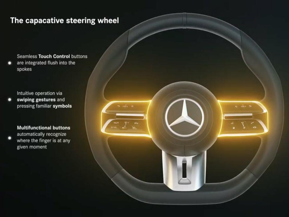 2021 Mercedes-Benz E-Class's MBUX steering wheel