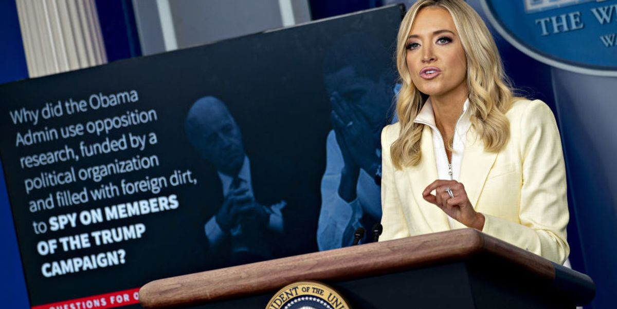Kayleigh McEnany turns the tables on reporters, whips out slideshow with specifics on 'Obamagate'