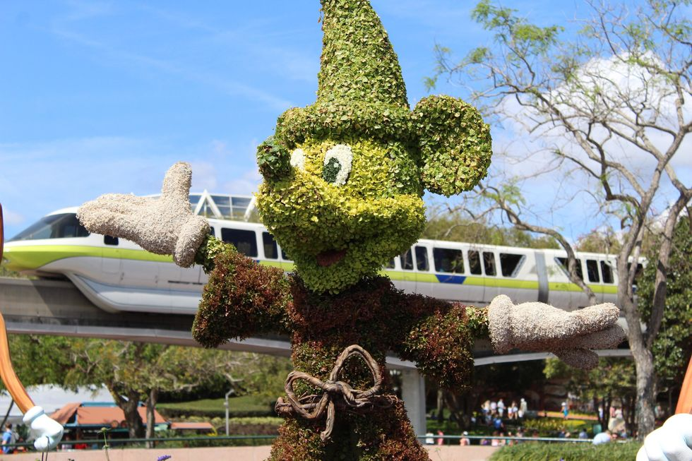 Mickey Mouse landscaping at Disney World