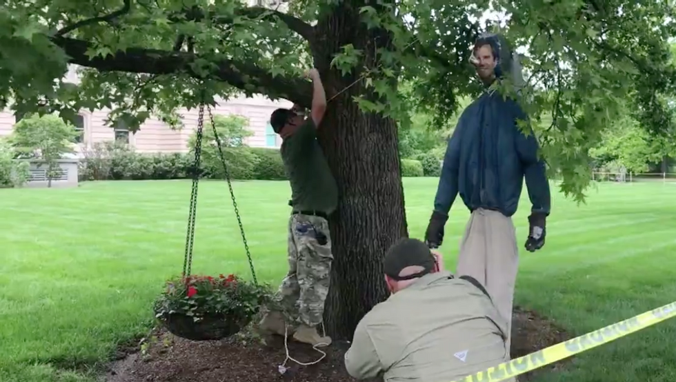 Super Normal Patriotic Americans Hang Effigy Of Kentucky Governor Andy Beshear