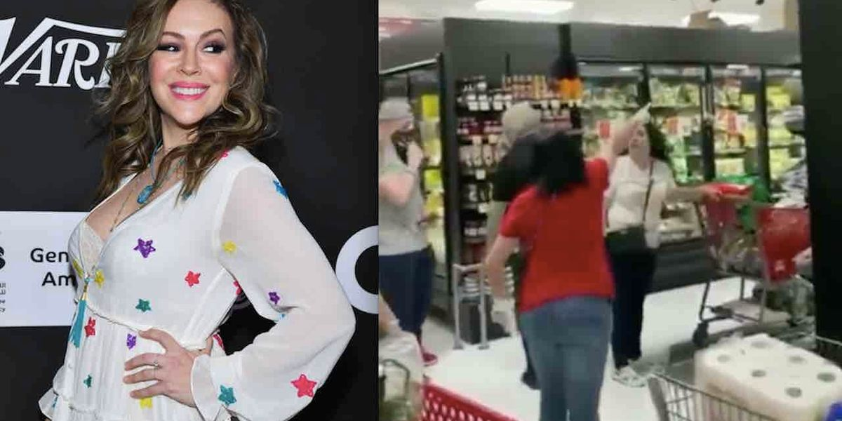 Alyssa Milano suggests she's proud of shoppers who drove woman from market for not wearing mask — and gets pulverized for it