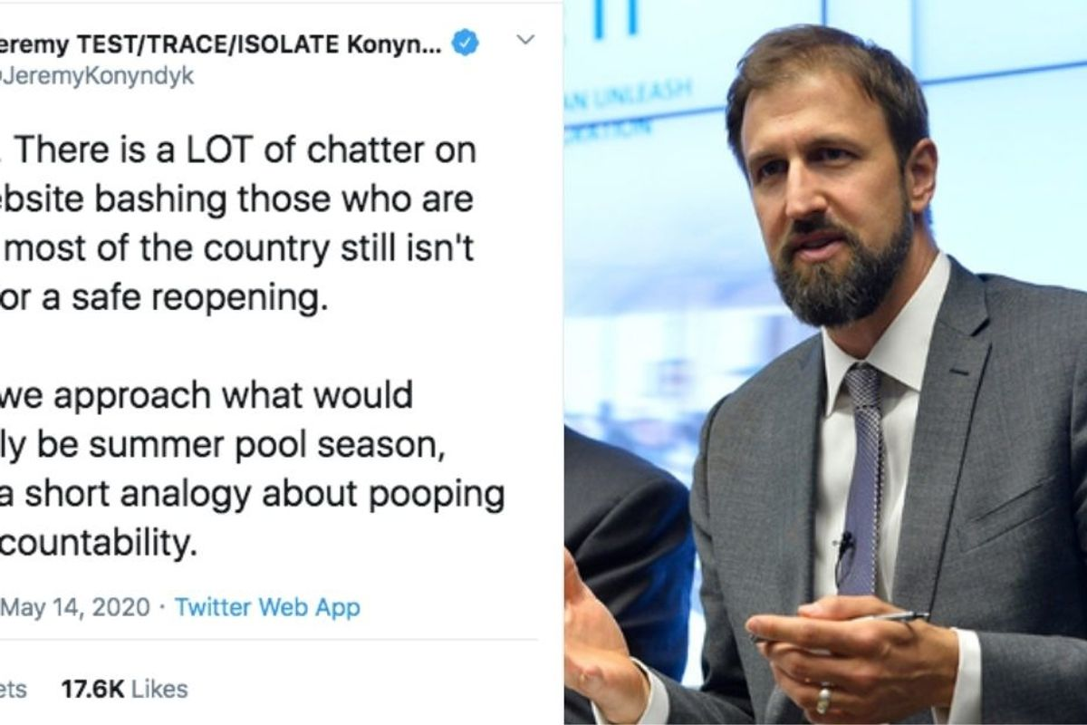 A pandemic prep expert's poop-in-the-pool analogy explains people's concerns with reopening