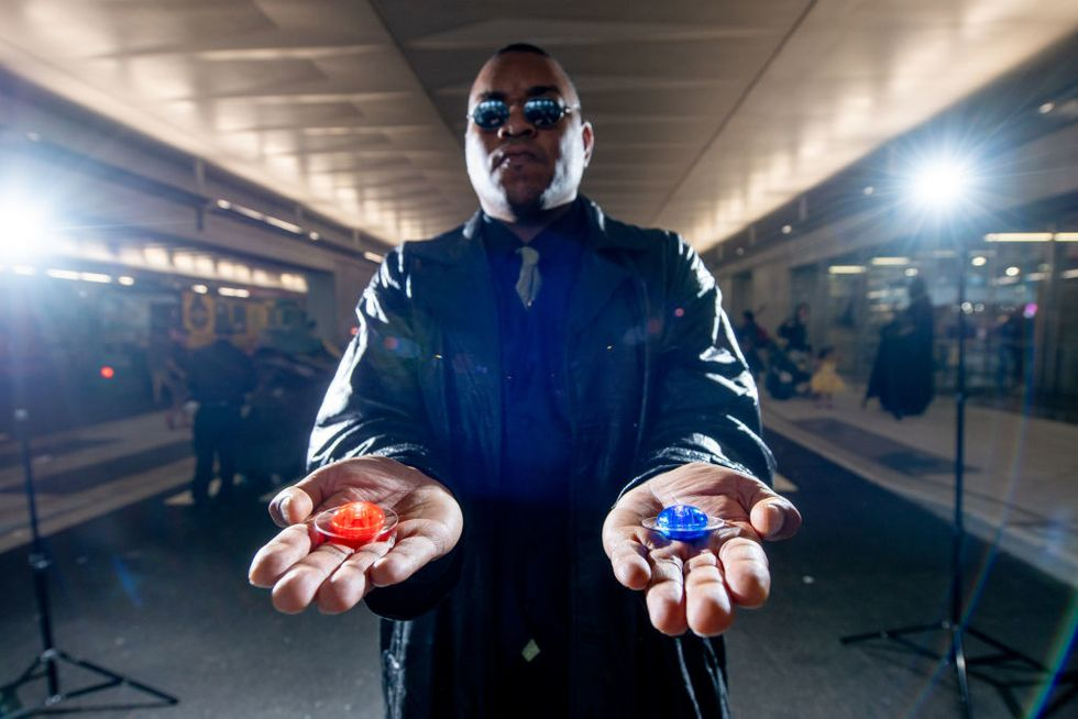 What does the red pill really show you?