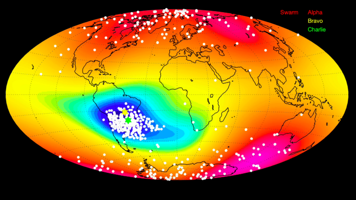 Mystery anomaly weakens Earth's magnetic field, report scientists