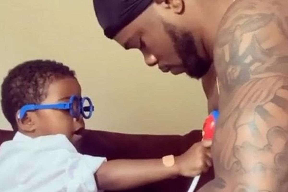 Adorable video of a three-year-old giving his dad a 'daily checkup' is just what the doctor ordered