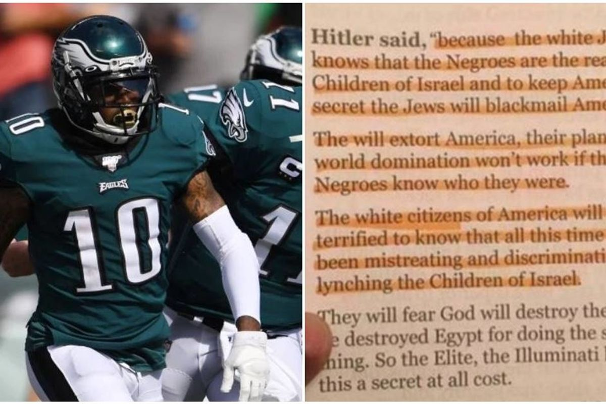 The NFL needs to suspend DeSean Jackson immediately for posting anti-Semitic, fake Hitler quotes