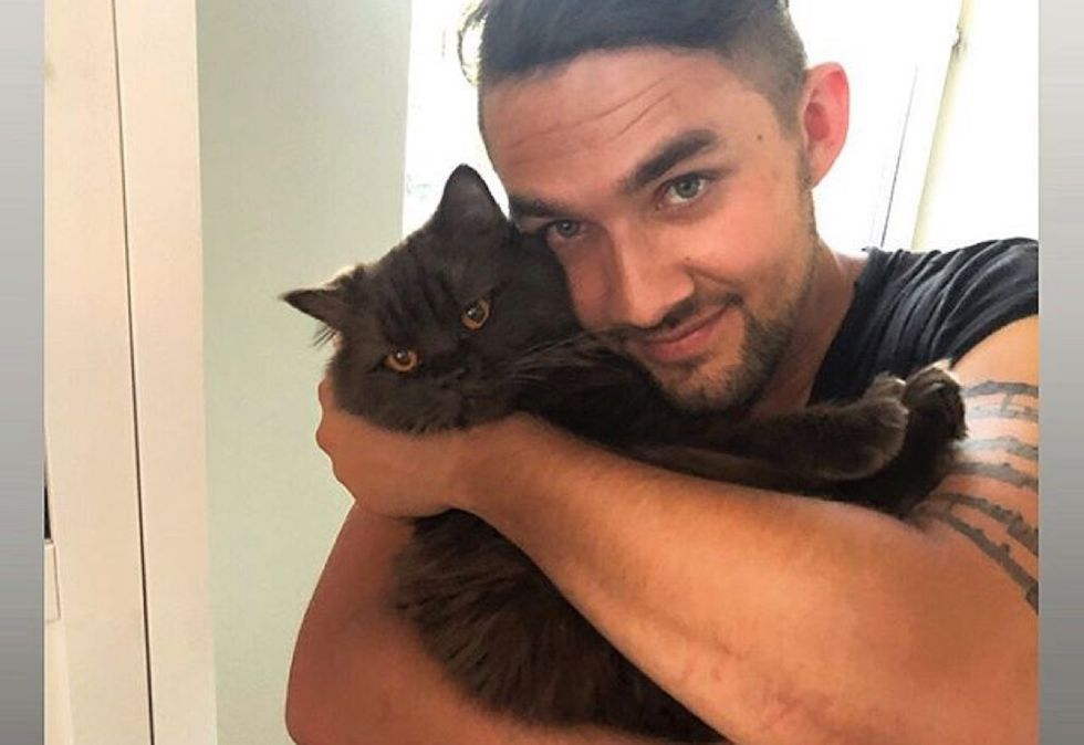 real men love cats, cuddle, cute cat