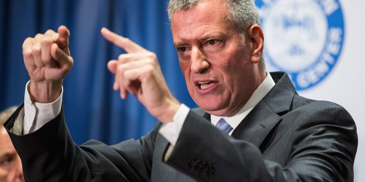 NYC Mayor de Blasio says he's banning all large gatherings to stop coronavirus — except for BLM protests