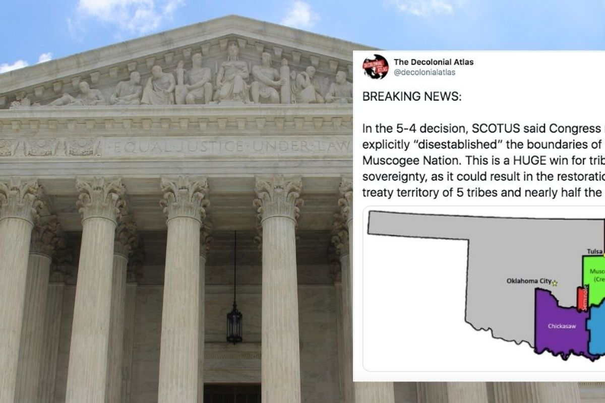 Indigenous people celebrate historic Supreme Court ruling upholding treaties in Oklahoma
