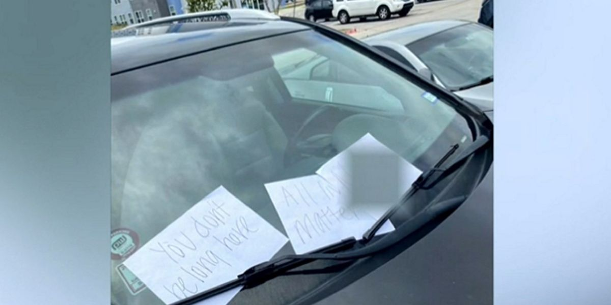 Texas A&M student claims racist notes were placed on his car. Police say it looks like he did it.
