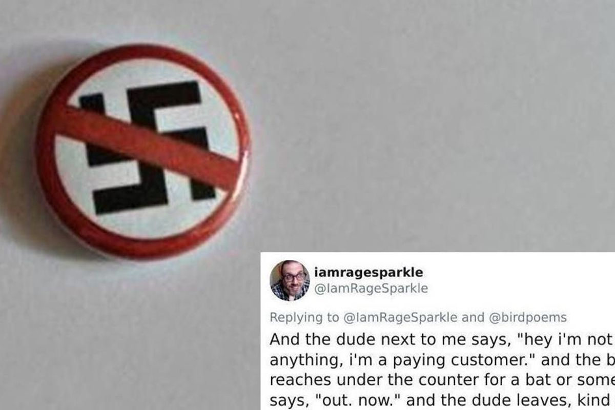 Bartender explains why he swiftly kicks out Nazis even if they're 'not bothering anyone'