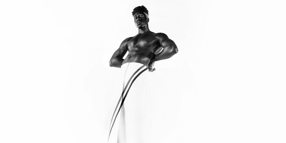 Moses Sumney Is an Olympic Monument in Thom Browne